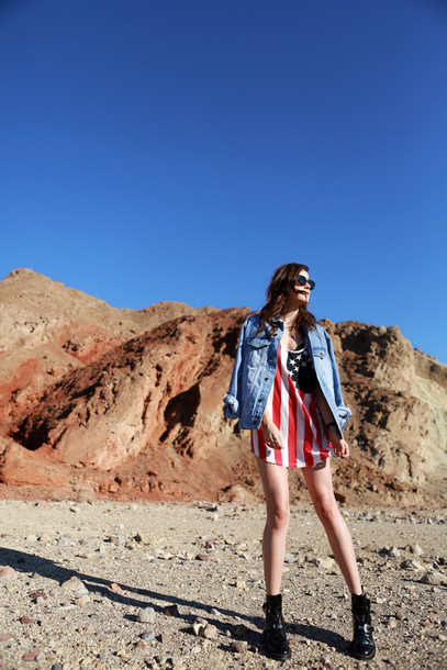 style scrapbook blogger top denim jacket american flag