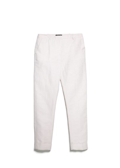 linen-blend suit trousers