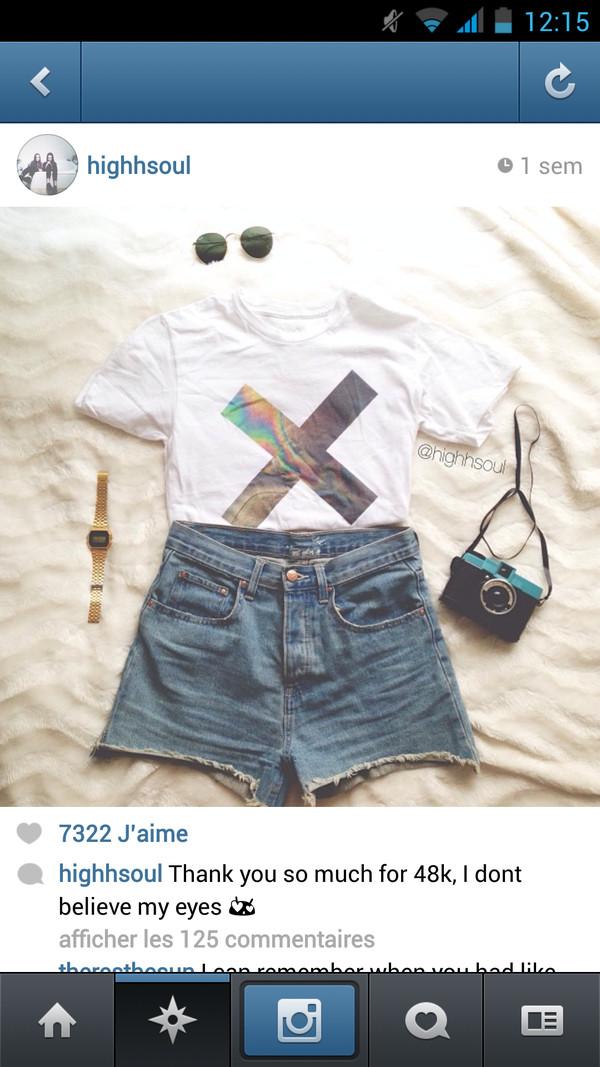 t-shirt white crop tops the xx