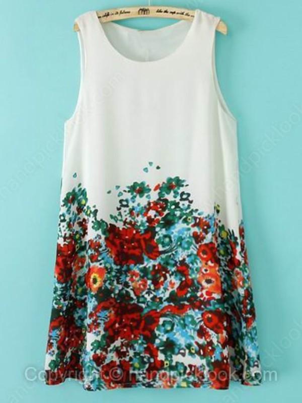floral floral dress print jumspsuit floral dress summer dress handpicklook.com sleeveless dress