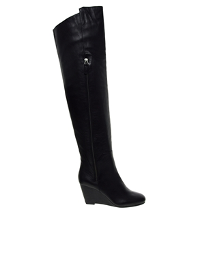 KG Kurt Geiger | KG by Kurt Geiger Watson Leather Over the Knee Boots at ASOS