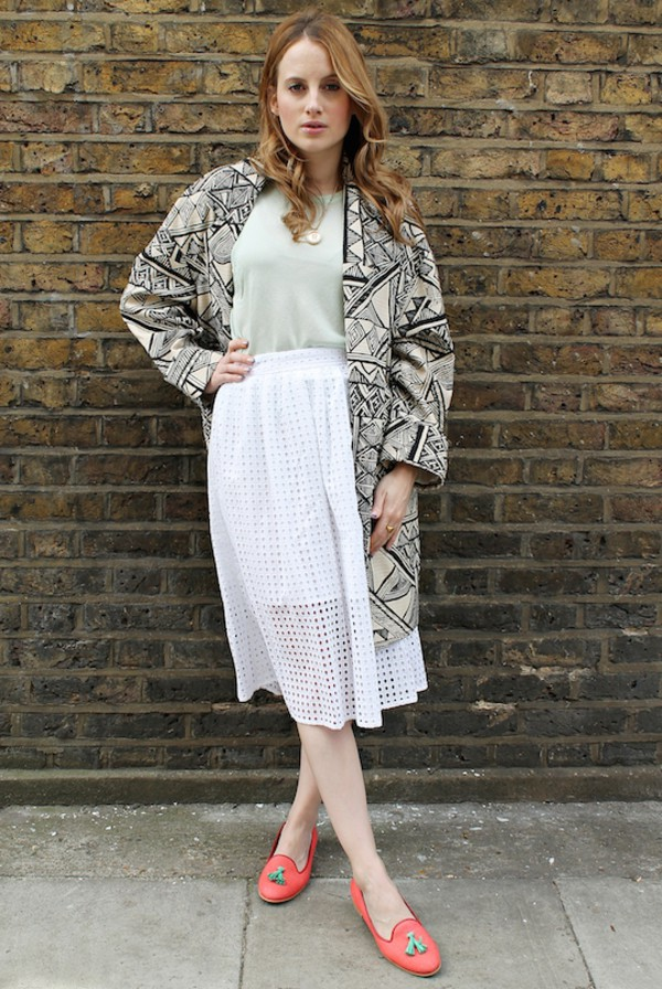 at fashion forte coat top skirt jewels shoes