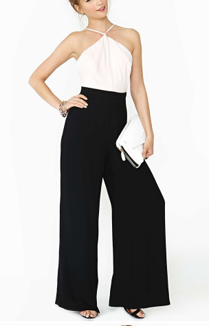 Backless off High Waist Style Jumpsuit - Juicy Wardrobe