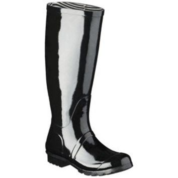 Women's Classic Knee High Rain Boot - Black on Wanelo