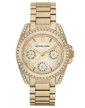 Michael Kors | Michael Kors Blair MK5639 Mini Gold Chronograph Watch at ASOS