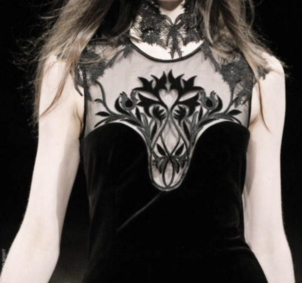 black dress model dress