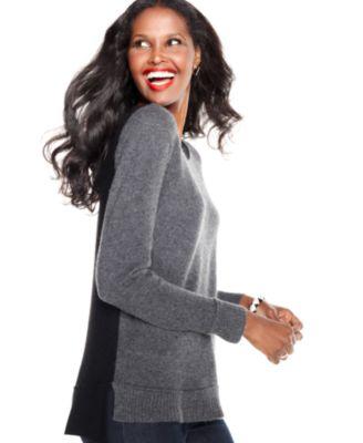 Charter Club Sweater, Long-Sleeve Asymmetrical-Hem Cashmere Tunic - Sweaters - Women - Macy's