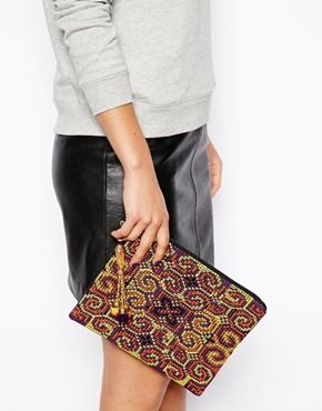 ASOS | ASOS iPad Case In Aztec With Charm at ASOS