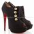 Replica Christian Louboutin Loubout 120mm Flannel Booties Black AF57