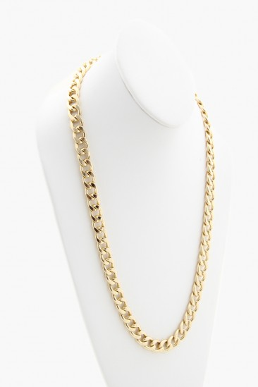 LoveMelrose.com From Harry & Molly   Long Chain Necklace - Gold