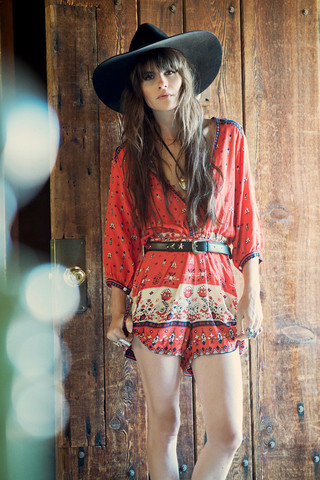 Desert Wanderer Playsuit - Sunset   Spell & the Gypsy Collective