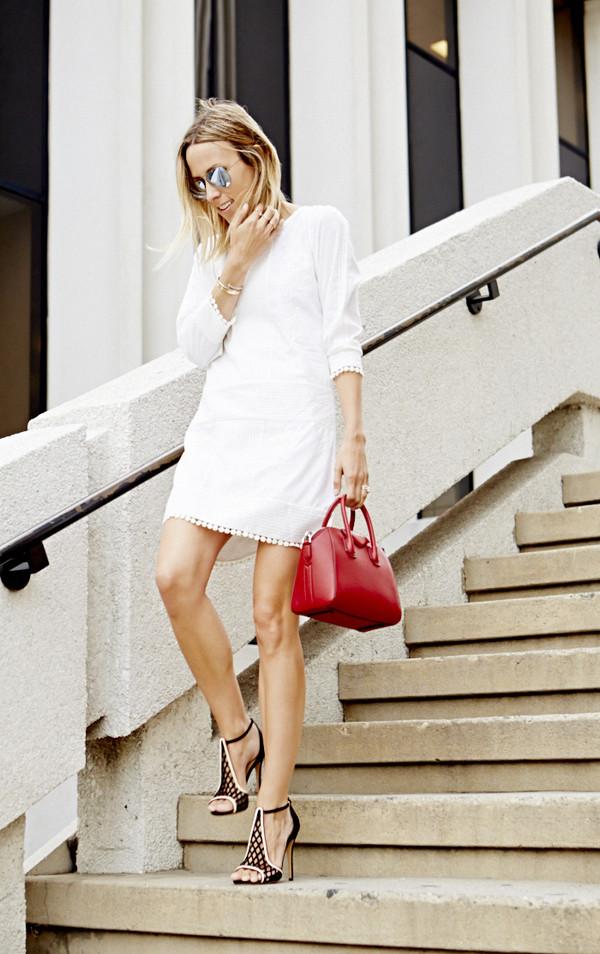 damsel in dior dress shoes bag jewels sunglasses high heels