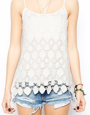New Look | New Look Crochet Tile Cami at ASOS