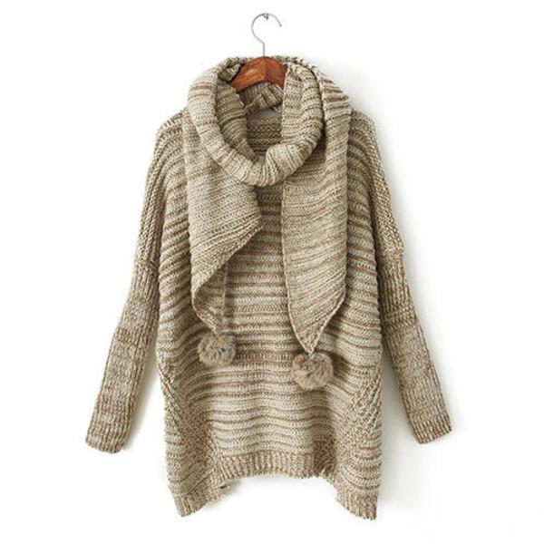 sweater warm scarf fashion