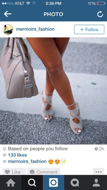 shoes taupe grey sandals cut out shoes