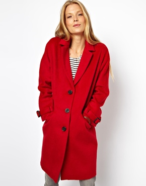 ASOS | ASOS Limited Edition Red Mohair Coat at ASOS