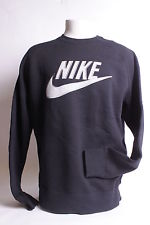 521857 010 Nike Black DK Grey Heather Men HBR Brush Crew | eBay