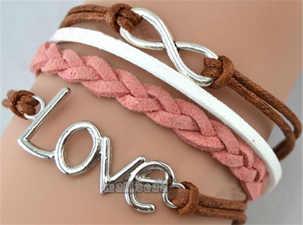 Fashion Handmade Infinity Anchor Rudder Leather Friendship Love Couple Bracelet | eBay