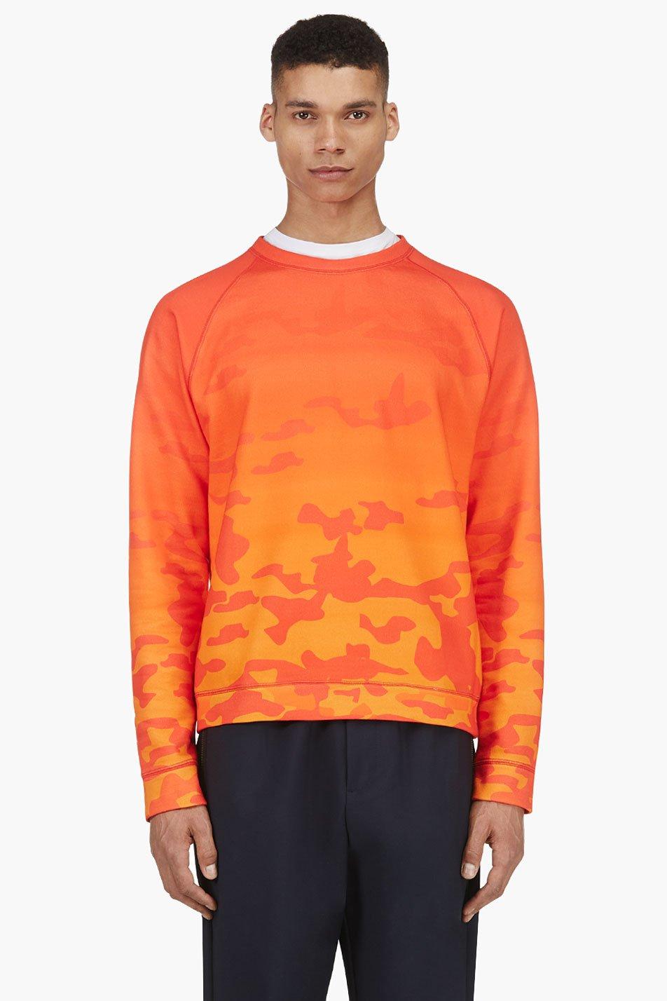 katie eary vermilion sunset camo crewneck sweater