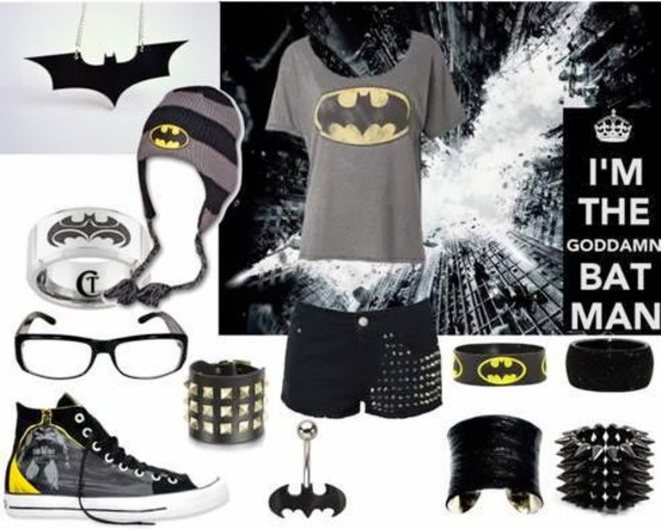 pants batman belly ring bracelets beanie high tops necklace shoes