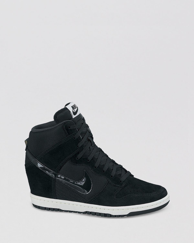 Nike Lace Up High Top Wedge Sneakers - Women's Dunk Sky Hi Essential | Bloomingdale's