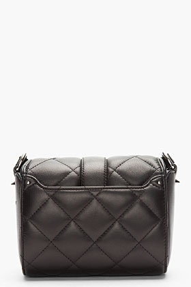 Givenchy Black Leather Quilted Obsedia Shoulder Bag for women | SSENSE