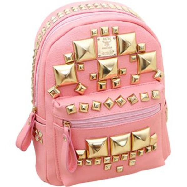 bag square rivets backpack
