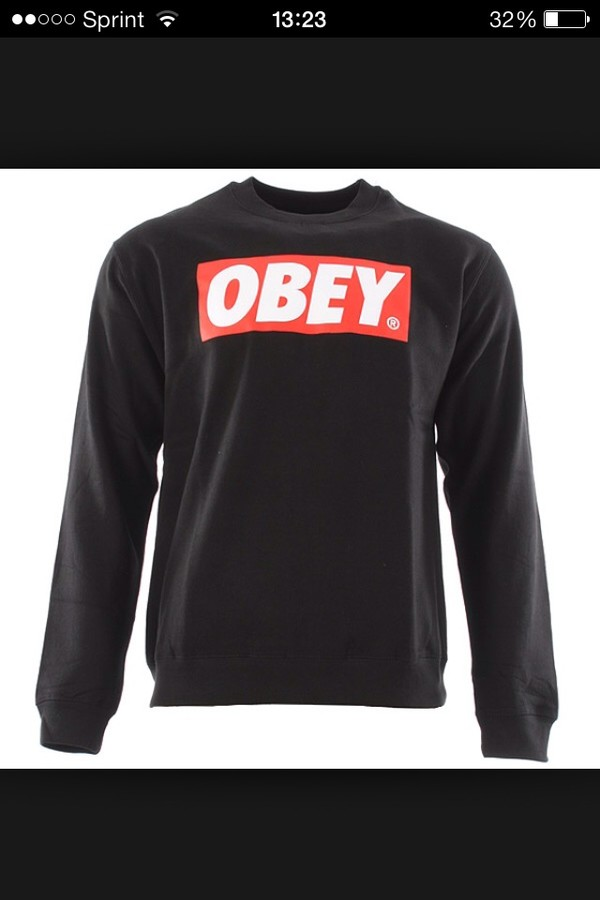 blouse obey obey sweatshirt obey sweatshirt sweater black