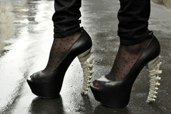 shoes bones black high heels dsquared leather bones black pumps pumps