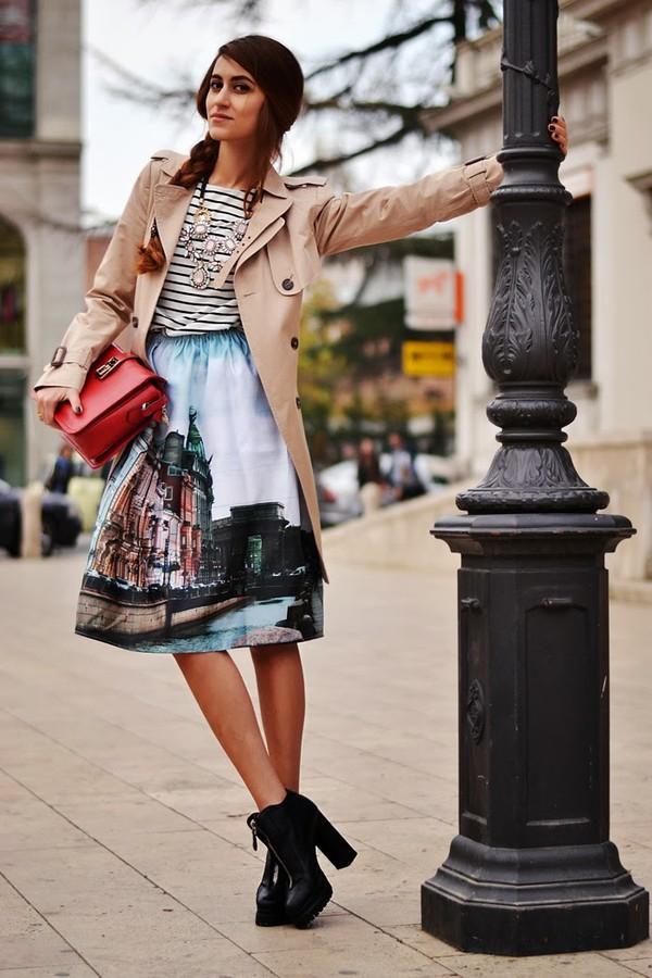 tina sizonova coat shoes bag skirt t-shirt jewels