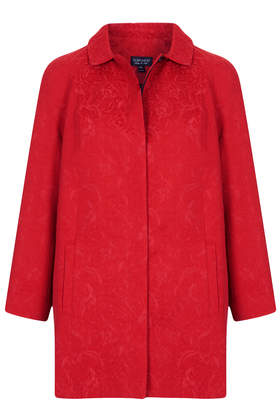 Jacquard Collar Coat - Sale - Sale & Offers - Topshop