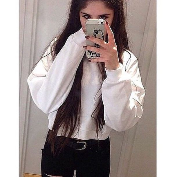 sweater white style sweater tumblr outfit tumblr