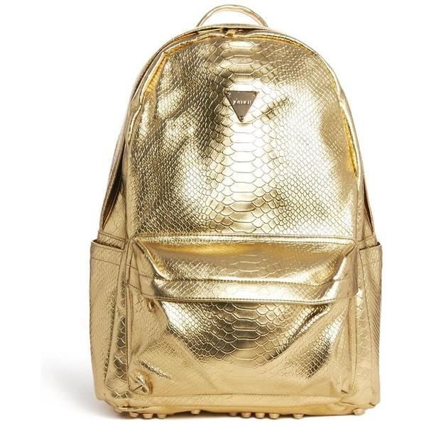 Joyrich Metallic Faux Python Backpack - Polyvore