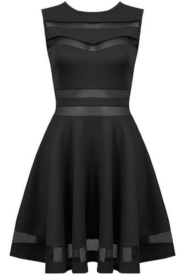 dress fashion skater black sexy
