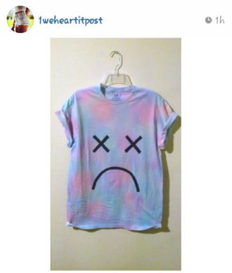 shirt smiley swag colorful patterns t-shirt