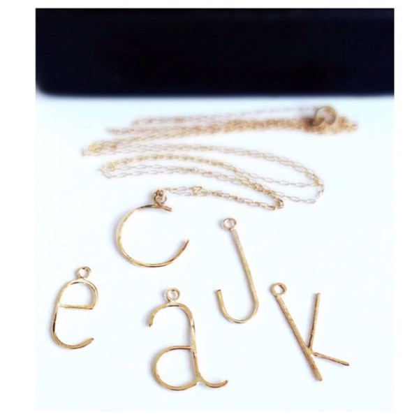 jewels initial necklace personalized monogram etsy handmade necklace gold necklace letter necklace