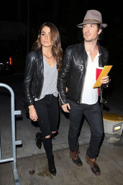 nikki reed fall outfits shoes jeans