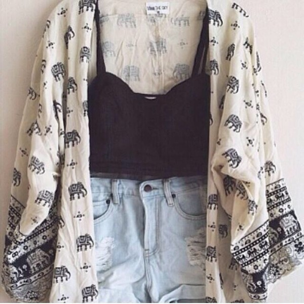 blouse cardigan kimono