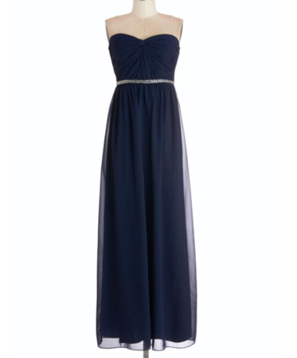 dress navy prom dress long dress prom dress