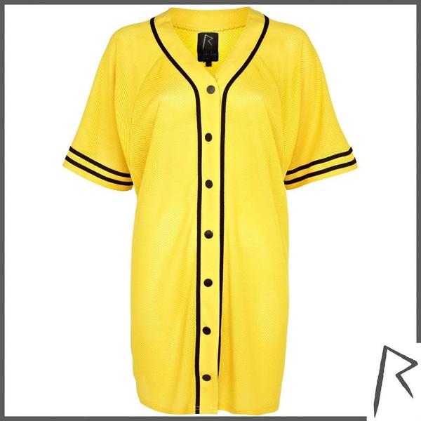 River Island Yellow Rihanna mesh G4LIFE shirt dress - Polyvore