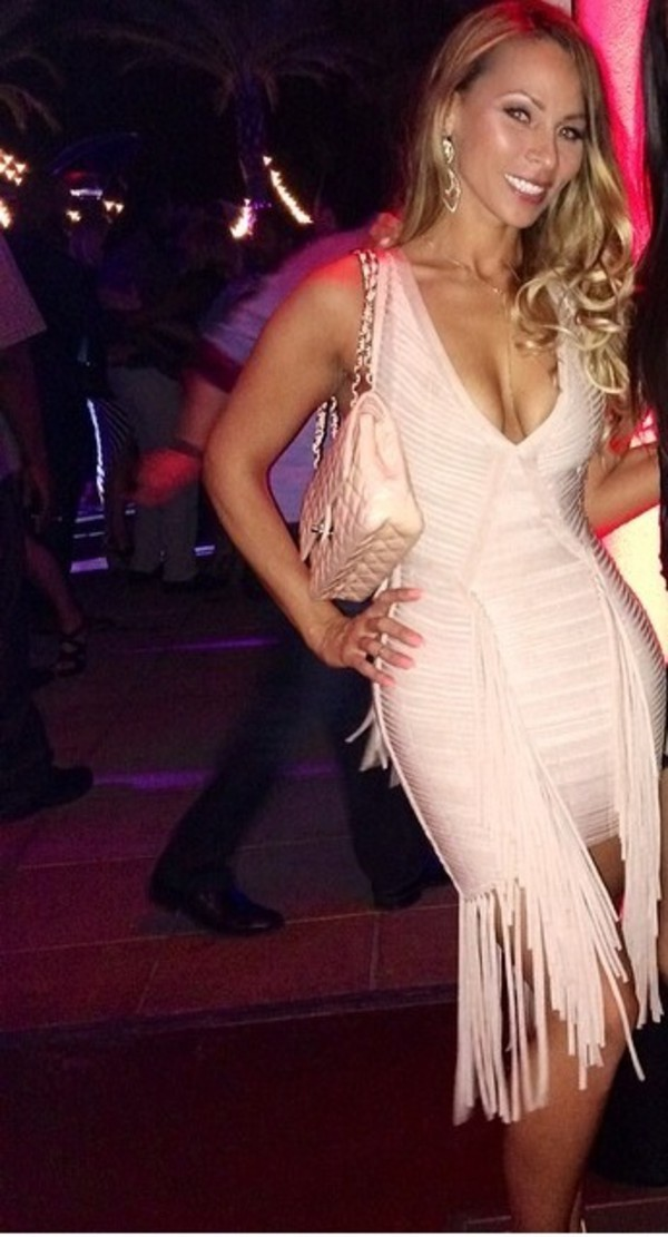 dress bodycon bandage midi fringes sexy party dresses formfitting