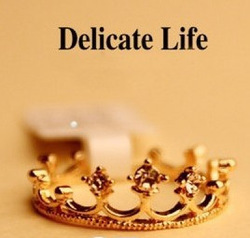 Online Shop Min.order is $10 (mix order) Free Shipping New Fashion Flash Drill Crown Ring R678|Aliexpress Mobile