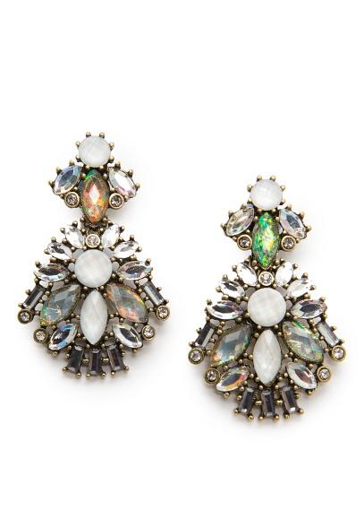 MANGO - NEW - Holographic crystal earrings
