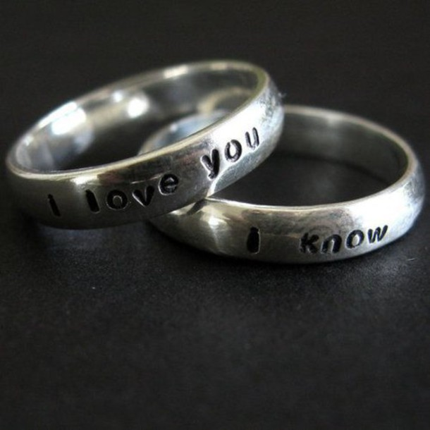 jewels i love you i know i love you ring ring couple couple rings wedding ring tank top