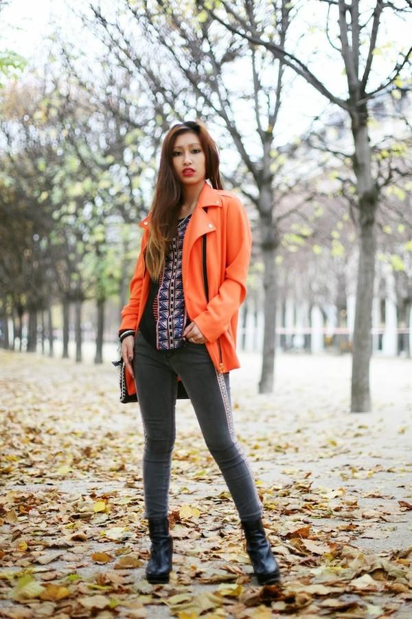 rosa pel's blog jacket t-shirt jeans shoes bag coat