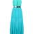 Blue Halter Sleeveless Pleated Chiffon Dress - Sheinside.com