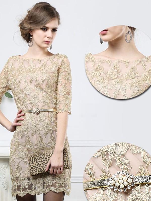 dress lace dress beige luxury dress
