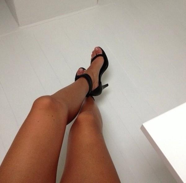 shoes black straps black high heels high heels sandals