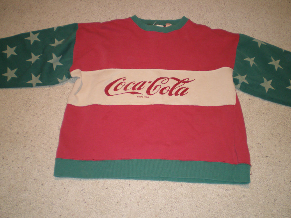 Vintage Coca Cola Sweatshirt Hard to Find Colors | eBay
