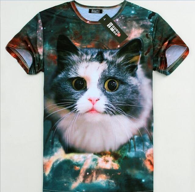 Fashion Cute Mens 3D Animal Stellar Space Galaxy Round Neck Top Tee T Shirts | eBay